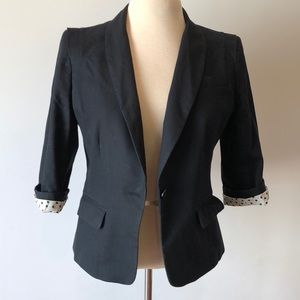 Summer 3/4 sleeve blazer with pretty lining